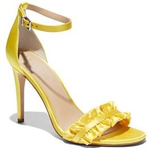 Eva Mendes Collection Ruffled Ankle-Strap Sandal